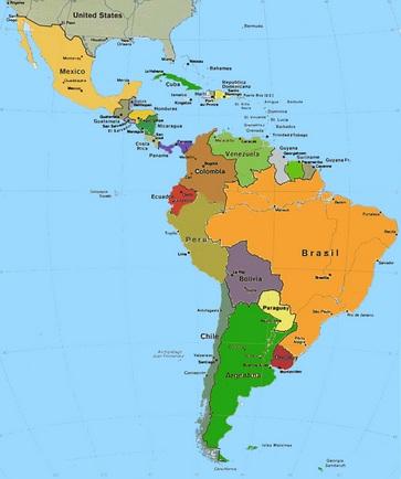 catina geografica amera latina