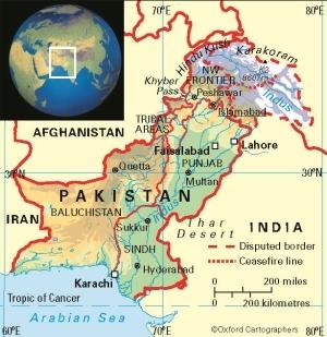 pakistan cartina