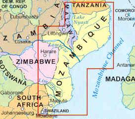 mappa mozambico